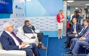 Пресс-конференция по итогам экспертной дискуссии с участием Сергея Рябкова