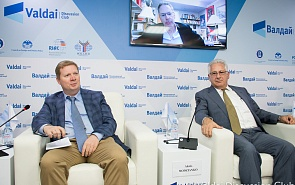 Фотогалерея: Экспертная дискуссия о перспективах торговых и санкционных войн США